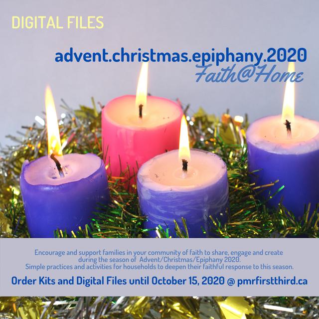 Faith@Home Kits for Advent – Christmas – Epiphany (Thanks Pacific Mountain Region!)