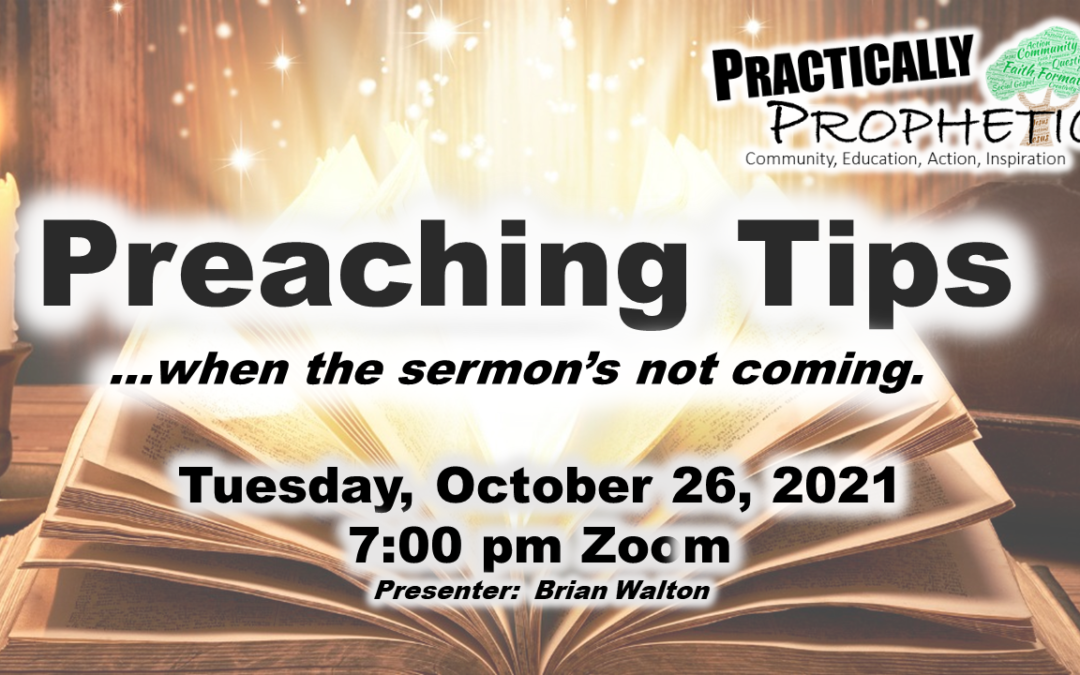 Preaching Tips When the Sermon Isn't Coming